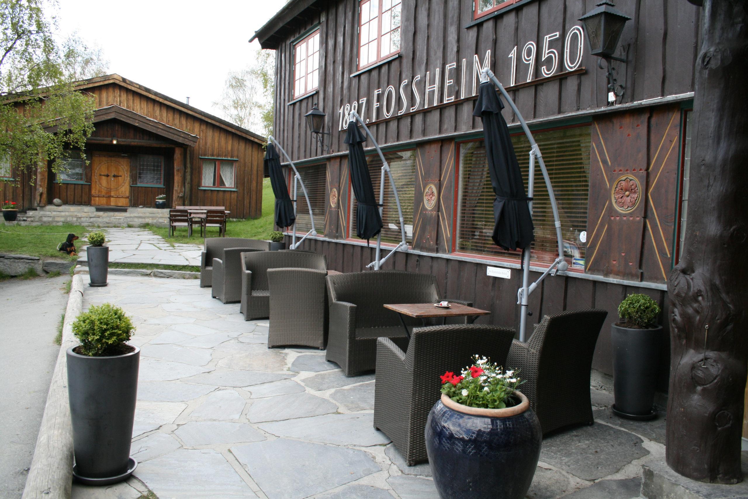 Fossheim hotell i Lom sentrum
